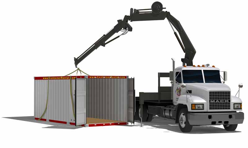 delivery and pickup services for storage containers  mobile storage with all available service